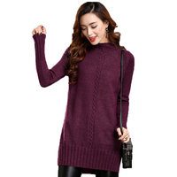 2017 New Spring Autumn Winter Warm Women Thickening Sweater Fashion Female Turtleneck Solid Pllovers Slim Ladies