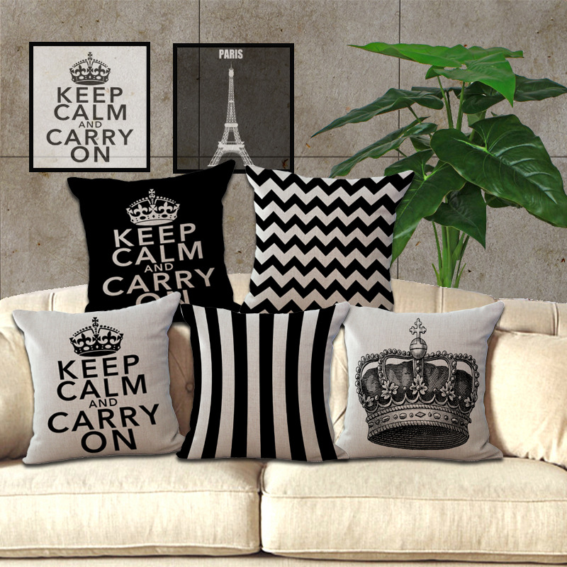 Wholesale Price 1 Piece Vintage Black Geometric Seat Cushion Decorative Home Decor Sofa Chair