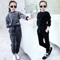 Girl Sets Children's Thick Clothing suits sets kids casual sweatshirt+pant sets kids sports sets Autumn Coats Winter Velvet Warm