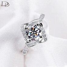 Anillos de moda para las mujeres 925 plata esterlina anillo de compromiso de la boda amor AAA ZIRCON joyería bague mujer anillos regalos DD095