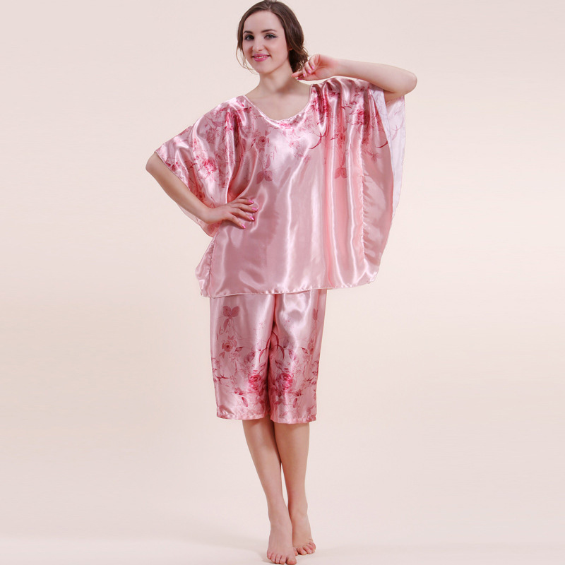 Newest   Best style women homewear suit silk pajama sets Western woman  nighclothes + pajamas pants female nightgown dressing-in Pajama Sets from  Underwear ... f83a3da3d