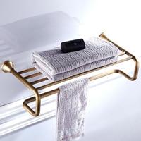 Bronze Towel Rack Black White Brass Antique Bathroom Shelf Wall Mounted Chrome Bath Shower Clothes Storage Towel Holder Bar Gold