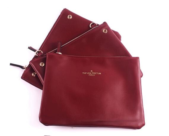 2015 new women leather messenger bag women Trio bag brand design bags/day clutch