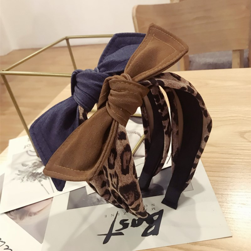 Ladies/'s Bow Knot Headband Leopard Print Hairband Head Band Hair Accessories