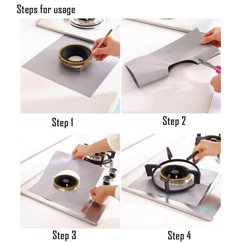 FHEAL-4pcs-set-Reusable-Non-stick-Foil-Gas-Range-Stovetop-Burner-Protector-Liner-Cover-For-Cleaning