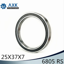 цены rolamento 6805-2rs 25*37*7 mm ( 10 PCS ) ABEC-1 Metric Thin Section 61805RS 6805 RS Ball Bearings 6805RS rolamento 6805