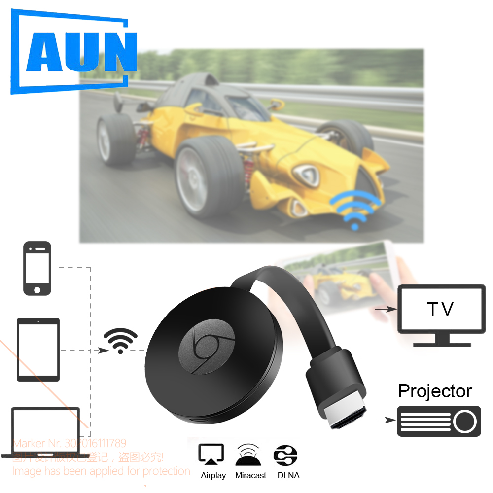 AUN Wireless HD Dongle, Wireless Same Screen, Support Connection Projector.TV.Monitor(HD Input), Same Screen Phone, Computer.
