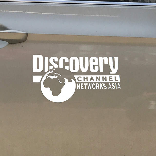 1pc Car Sticker DISCOVERY CHANNEL NETWORKS ASIA National Geographic Earth  Car Body Decal Styling Sticker Accessories Decoration