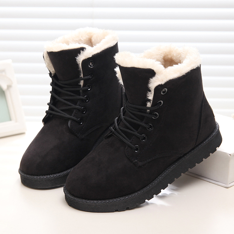 2018 Winter Women Snow Boots Female Non-slip Winter Shoes Women Plush Platform Ankle Boots Warm Winter Boots Big Size 35-43 2017 women winter boots shoes snow boots blue warm snow boots down plus size 35 42 non slip platform winter boots shoes xz 29