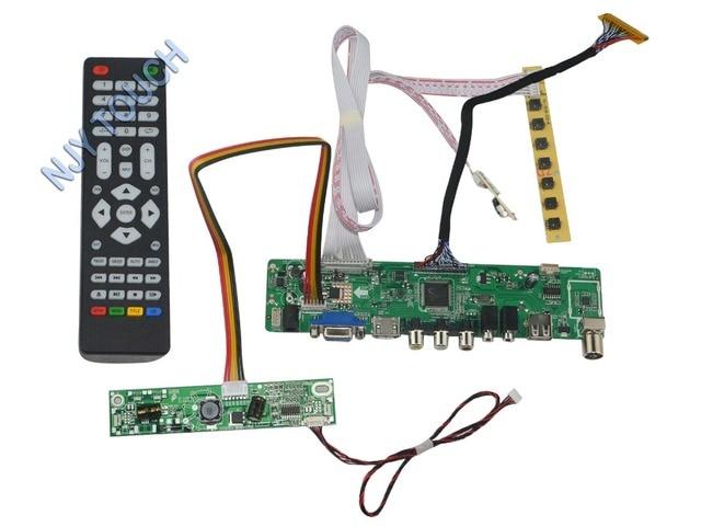 LA. MV56U. Um Novo Universal HDMI USB AV VGA ATV PC Placa Controladora Do LCD de 23.6 polegadas 1920x1080 V236H1-LE2 LED LVDS Monitor Kit