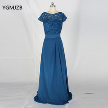 Elegant 2017 Mother Of The Bride Dresses For Weddings Scoop Lace with Short Sleeves Chiffon Mother