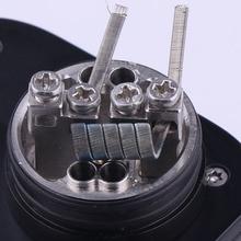XFKM 100 ピース/箱クラプトンエイリアン NI80 SS316L a1 加熱ワイヤ高品質ニクロム溶融クラプトンため RDA RTA アトマイザーコイル