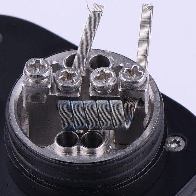 XFKM 100 قطعة/صندوق كلابتون الغريبة NI80 SS316L a1 أسلاك التدفئة عالية الجودة نيتشروم تنصهر كلابتون ل RDA تانك بخاخ RTA لفائف