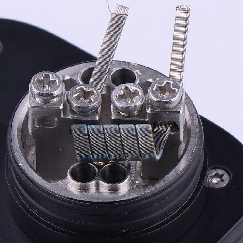 XFKM 100 pcs/boîte Clapton Alien NI80 SS316L a1 Fils De Chauffage Haute Qualité Nichrome fusionné Clapton Pour RDA Atomiseur RTA Bobine