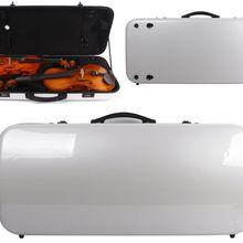 Чехол для скрипки/альты из комбинированного углеродного волокна, регулируемый размер, двойной чехол для скрипки, крепкий светильник
