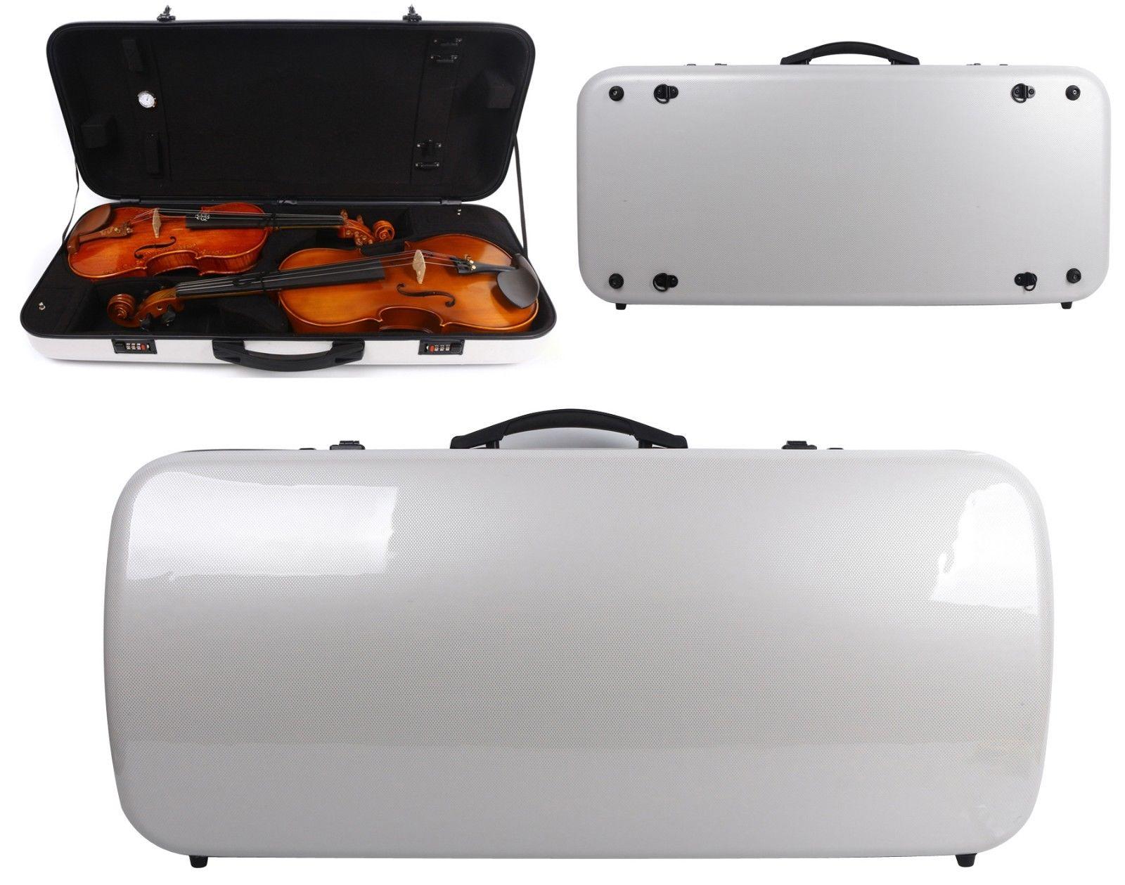 Violin/Viola Case Mixed Carbon Fiber Adjustable Size Double Violin case Strong Light все цены