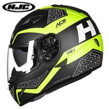 Новое Прибытие HJC шлем мотоцикла полный-длина мужчин и женщин TR-1 локомотив автомобиль гоночный шлем двойные линзы шлем ТОЧКА