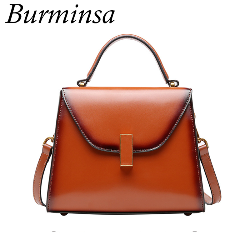 Burminsa Brand Summer Small Genuine Leather Bags For Women Luxury Designer Handbags High Quality Ladies Shoulder Messenger Bags popular small bag for ladies 2016 fashion women messenger bags genuine leather designer handbags brand