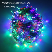 New 5M 10M 20M 30M 50M 100M New LED Fairy String Light Outdoor Waterproof AC220V String Garland For Xmas Wedding Christmas Party 50m 400 leds ac220v waterproof outdoor colorful led xmas christmas light for wedding christmas party holiday