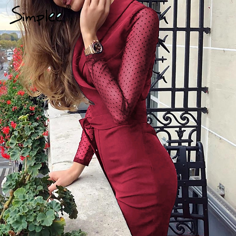 Simplee Sexy v-neck women   jumpsuit   romper Elegant long sleeve office ladies   jumpsuit   Sashes plus size red long overalls playsuit
