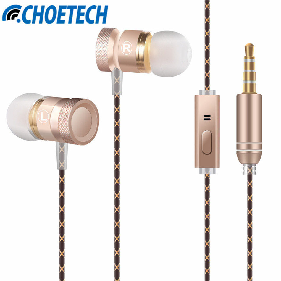 Stereo Metal Earphones with Microphone Noise Cancelling Earbuds BASS Earphone HiFi Ear Phones for Xiaomi HuaWei P9 HTC Meizu Pro