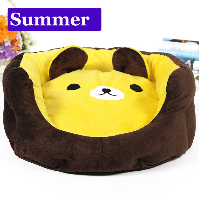 Cute cartoon bear Washable small dog cat Princess sofa bed mat House     Cute cartoon bear Washable small dog cat Princess sofa bed mat House Kennel  winter Soft Fleece