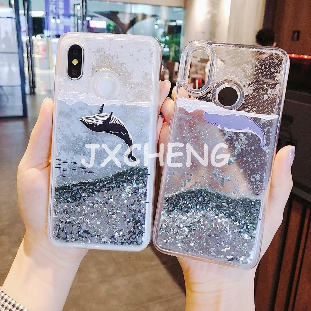 Amicable Whale Fish Water Liquid Case For Oppo R9s R11s R15x R17 Pro Plus A3s A57 A59 F1s A73 A83 F7 F9 Glitter Soft Silicone Tpu Cover Discounts Sale Phone Bags & Cases Half-wrapped Case
