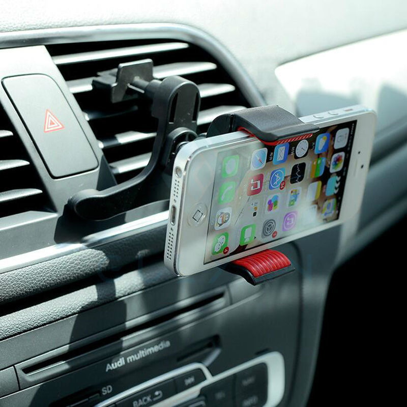 2016 NOVA Universal Car Air Vent Titular de Telefone Celular No Carro de Montagem Para O Iphone 6 7 8 Além de Telefones celulares acessórios GPS Stand Titulares