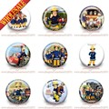 Wholesale,90pcs  People Hero Fireman Sam Buttons Pins Badges Round Brooches Badges 30mm Party favor,Kid's Gift,Bags Decorate