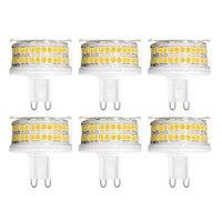YWXLight 6PCS G9 LED Lamp 9W AC 220V LED Bulb 88LED 2835SMD LED Light Spotlight Chandelier Replace 90W Halogen Lamp