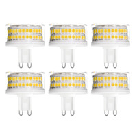 YWXLight 6PCS G9 LED Lamp 9W AC 220V LED Bulb 88LED 2835SMD LED Light Spotlight Chandelier Replace 90W Halogen Lamp