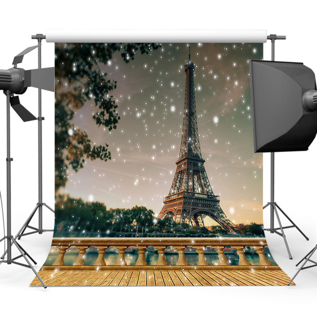 Mehofoto Eiffel Tower Photography Backgrounds Children Birthday Party Shining Backdrops for Photo Photographers Studio Y-392