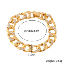 Braided Bracelet Hollow Out Gold Luxury Crystal Rhinestones Bacelets & Bangles W