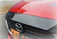 Lapetus For Mazda 3 AXELA Sedan Hatchback 2017 2018 ABS Front Hood Bonnet Strip Front Engine Decoration Frame Cover Trim 1 Pcs