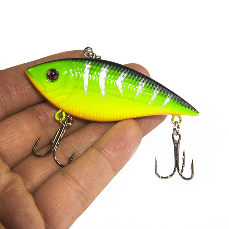 1PCS Winter Fishing Lures Hard Bait VIB With Lead Inside Lead Fish Ice Sea FishingTackle Swivel Jig Wobbler Lure new 12pcs 7 5cm 5 6g fishing lure minnow hard bait sea fishing tackle crankbait fishing kit jig wobbler lures bait with hooks