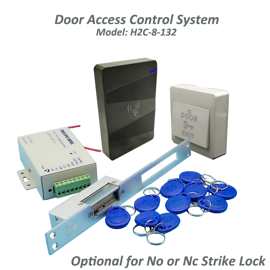 DIY Rfid 13.56Mhz waterproof Door Access Control Kit + Long type Electric Strike Lock+10 RFID keyfob Card Full Door Lock System brand new diy 125khz rfid door access control kit set with electric bolt lock 10 rfid keyfob card full access control system