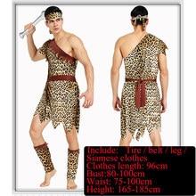 Savage fuzhuang adult men and women, savage costumes, African savage hunters, tribal dancers, costumes.