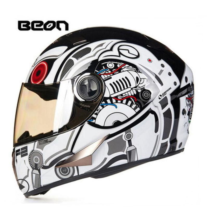 2017 Winter New CE Authentication Netherlands Band BEON Full Face Motorcycle Helmets ABS Motorbike Helmet with PC lens visor