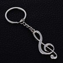 Zinc Alloy Musical notes Key Ring Chain Holder Creative Metal Keychains llavero Car Keyfobs Charm Bag Pendant Jewelry Gift J024