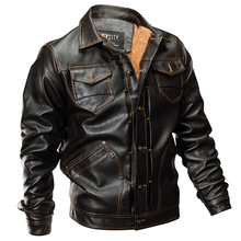 New Winter Pilot Bomber Leather Jacket Men Tactical Army Military Fleece Coat Autumn Thick Warm Faux Leather Motorcycle Jacket new artificial leather motorcycle jacket autumn winter pu male faux leather jacket men casual pockets thick warm mens jacke