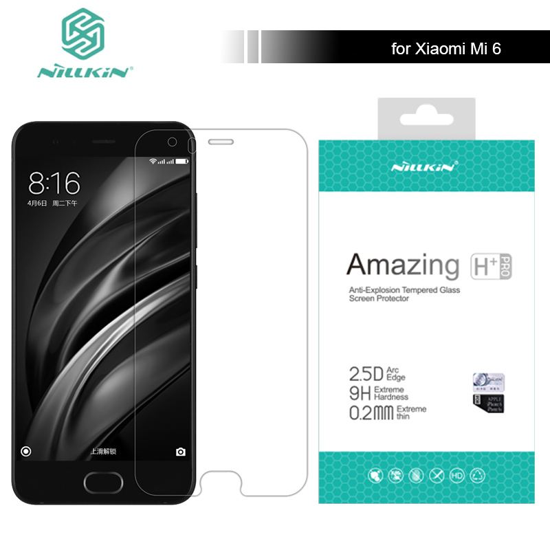 for Xiaomi Mi6 M6 9H Tempered Glass Screen Protector Amazing H / H+ Pro 5.15 inch For Xiaomi Mi 6 M6 Pro Nilkin Glass