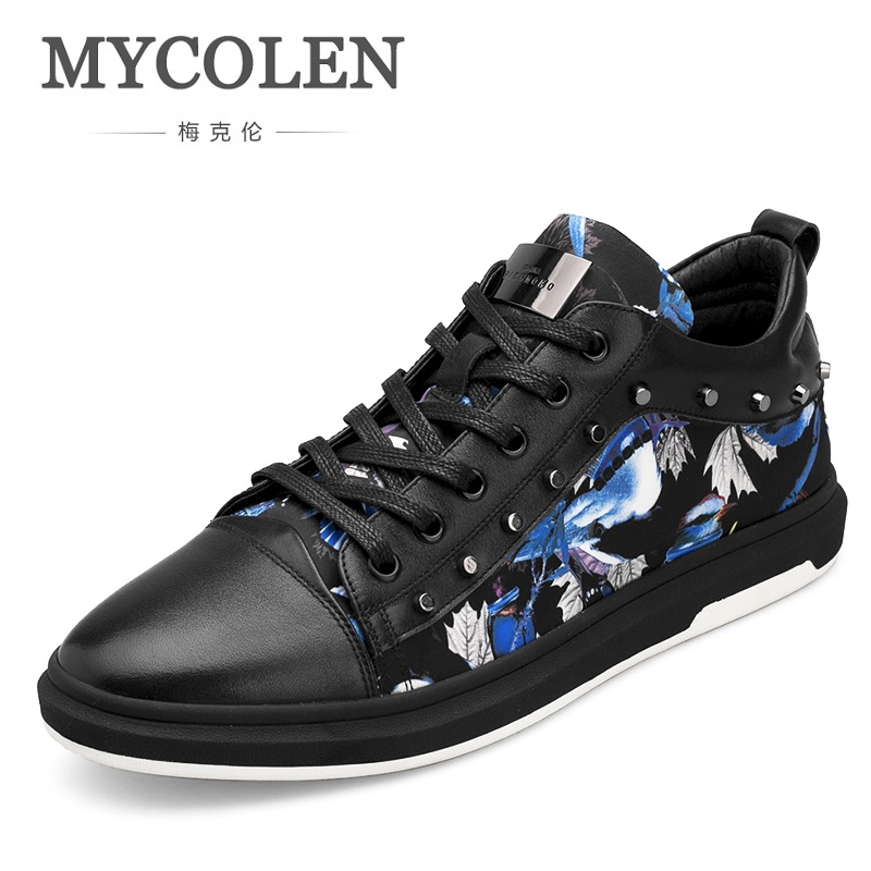 MYCOLEN 2018 Hot Sales Men Casual Shoes Lace-Up Leisure Style Breathable Fashion Unique Sneakers Sapato Casual Masculino цена в Москве и Питере