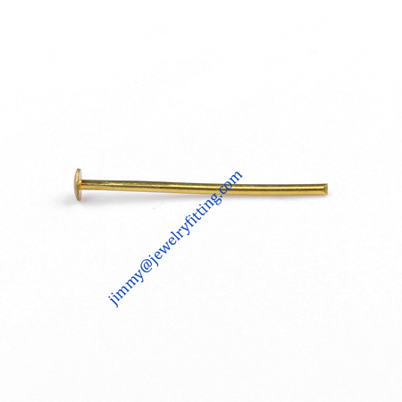 Jewelry Making findings Raw brass metal Head Pins with Round end Scarf Pins jewellry findings 0.7*16mm shipping free|pin up jewelry|jewelry feather|jewelry clasp - title=
