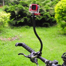 Fantaseal Mandíbulas Flexíveis Braçadeira de Montagem com Gooseneck Ajustável para GoPro Hero 6 5 7 4 Sjcam Yi 4K Ação acessório Tripé de câmera