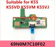 FOR ASUS K55 K55VD K55VJ K55VM Power Button Switch button BOARD With Cable 69N0M7C10F02 100% Tested Fast Ship(China)
