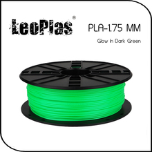 Worldwide Fast Express Within 7 Days Direct Manufacturer 3D Printer Material 1kg 2.2lb 1.75mm Glow In Dark Green PLA Filament