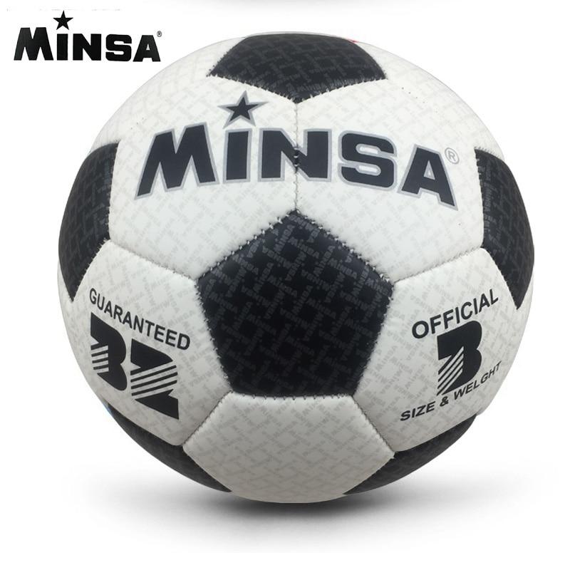 2017 New Brand MINSA High Quality A++ Standard Soccer Ball PU Soccer Ball Training Balls Football Official Size 3  ball soccer balls size 4