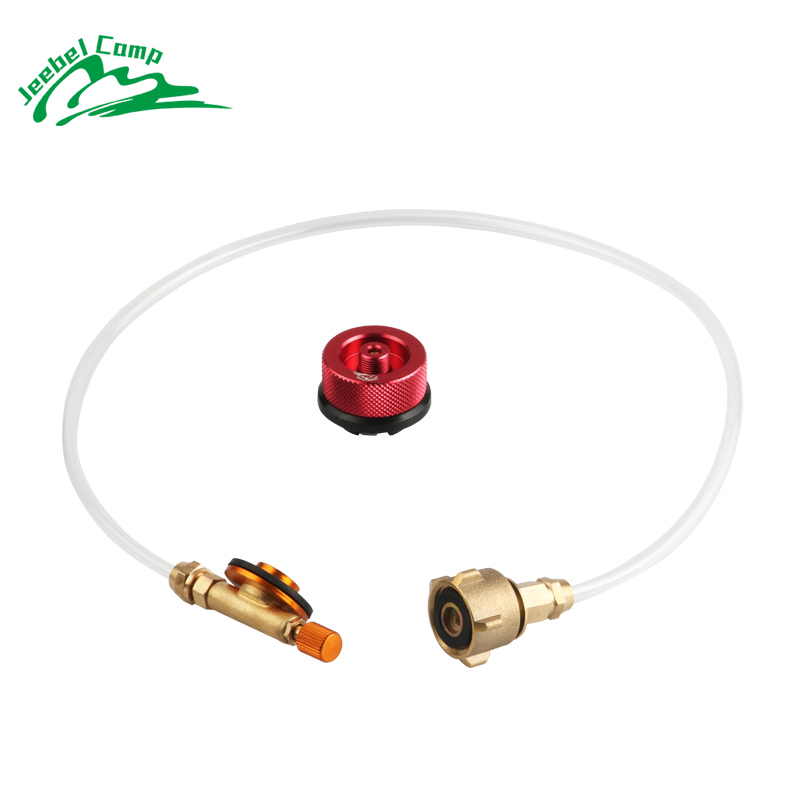 цена на 2018 New Jeebel outdoor gas refill adapter camping stove valve propane tank refill adapter refilling gas cylinders for gas stove