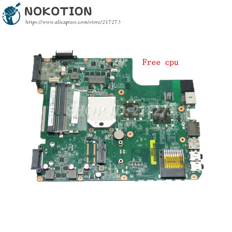 купить NOKOTION A000073410 DA0TE3MB6C0 PC Motherboard For Toshiba Satellite L645 L645D MAIN BOARD Socket S1 DDR3 Free CPU недорого