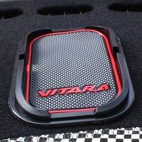 Навигационной панели консоли силиконовый коврик мобильного телефона коврик Тюнинг автомобилей подходит для 2016 Suzuki Vitara стайлинга автомоби...